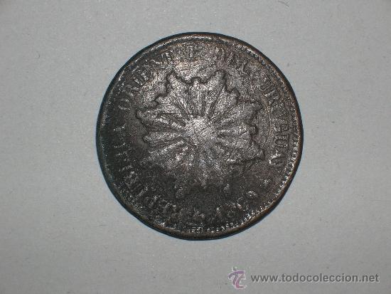 URUGUAY 2 CENTIMOS 1869 (1814) (Numismática - Extranjeras - América)