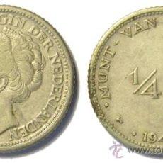 Monedas antiguas de América: ANTILLAS HOLANDESAS. 1/4 GULDEN 1944D. PLATA. MBC+ . Lote 36403705