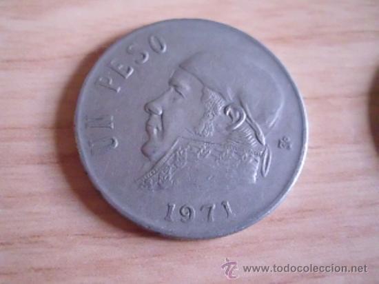 . MONEDA DE MÉXICO-MÉJICO. 1 PESO DE 1971. KM 460 (Numismática - Extranjeras - América)