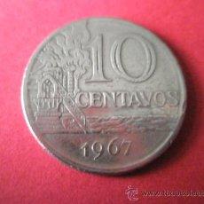 Monedas antiguas de América: MONEDA DE BRASIL-10 CENTAVOS-1967-.. Lote 36854259