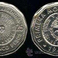 Monedas antiguas de América: ARGENTINA MONEDA DE 25 PESOS 1966. Lote 36856588
