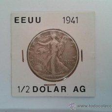 Monedas antiguas de América: HALF DOLLAR - MEDIO DOLAR - PLATA - EEUU - ESTADOS UNIDOS - LIBERTY - AMERICA - 1941 - MBC +. Lote 37329337