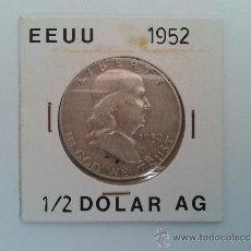 Monedas antiguas de América: HALF DOLLAR - MEDIO DOLAR - PLATA - EEUU - ESTADOS UNIDOS - B. FRANKLIN - AMERICA - 1952 - MBC +. Lote 37329469