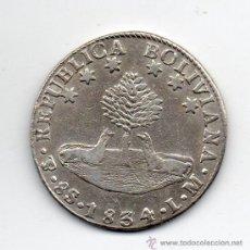 Monedas antiguas de América: BOLIVIA. 8 SOLES. POTOSÍ. AÑO 1834 LM. PLATA.. Lote 37350228
