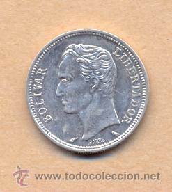 Monedas antiguas de América: MONEDA 726 Venezuela, 1 Bolívar de Plata de 1960 ebc Venezuela, moneda de 1 Bolívar de Plata, 5 Gr - Foto 2 - 37571470