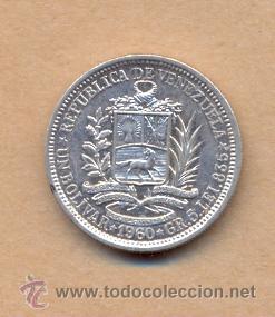 Monedas antiguas de América: MONEDA 726 Venezuela, 1 Bolívar de Plata de 1960 ebc Venezuela, moneda de 1 Bolívar de Plata, 5 Gr - Foto 3 - 37571470