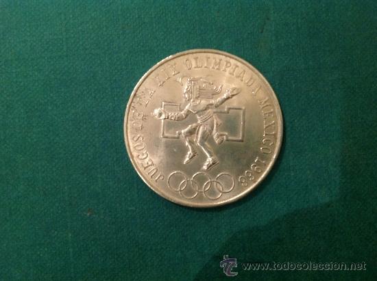 MONEDA DE 25 PESOS; 1968; PLATA DE LEY. (Numismática - Extranjeras - América)