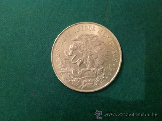 Monedas antiguas de América: Moneda de 25 pesos; 1968; Plata de Ley. - Foto 2 - 38015834