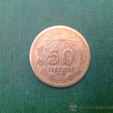 Monedas antiguas de América: MONEDA DE 50 CENTAVOS DE PLATA; 1919. Lote 38015980