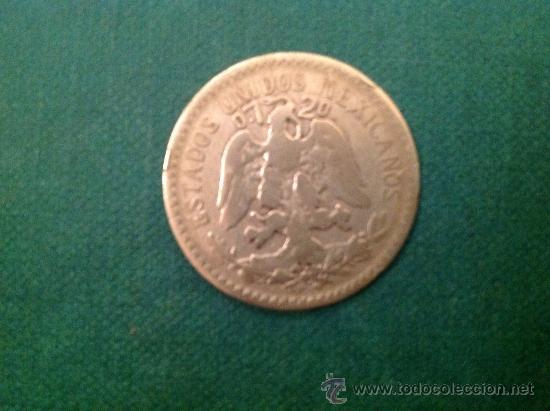 Monedas antiguas de América: Moneda de 50 centavos de Plata; 1919 - Foto 2 - 38015980