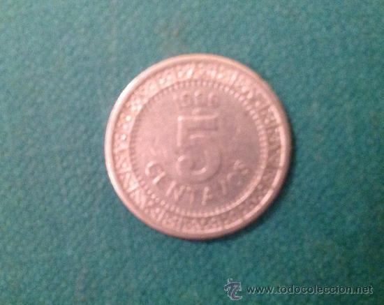 MONEDA DE 5 CENTAVOS; ESTADOS UNIDOS MEXICANOS; 1909; NIQUEL (Numismática - Extranjeras - América)