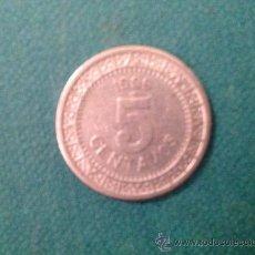 Monedas antiguas de América: MONEDA DE 5 CENTAVOS; ESTADOS UNIDOS MEXICANOS; 1909; NIQUEL. Lote 38029154