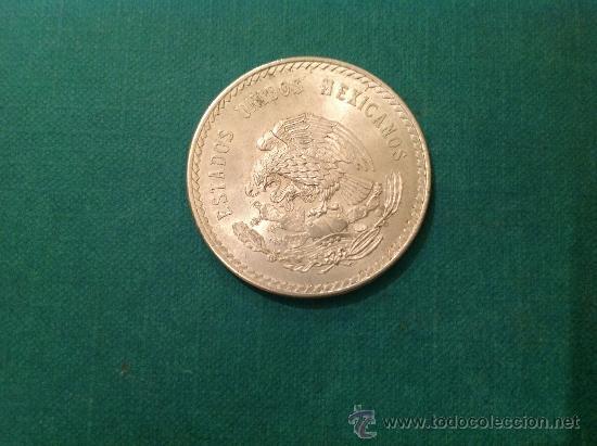 Monedas antiguas de América: Moneda de 5 pesos de Cuauhtemoc; Plata de Ley .900; 1948 Diámetro 4CM - Foto 2 - 38029235