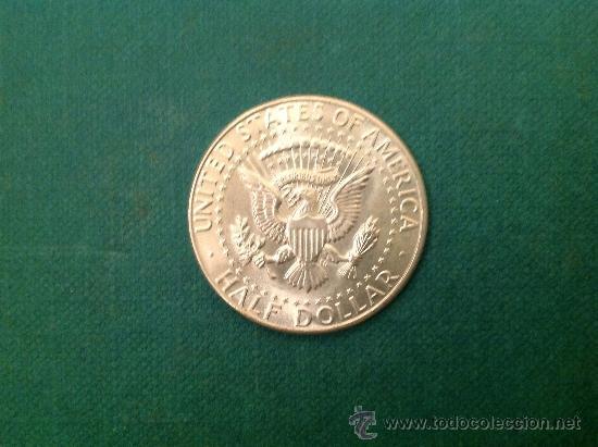 Monedas antiguas de América: Moneda de 1/2 Dolar de Plata; Estados Unidos de América; 1964; Kennedy - Foto 2 - 61557956