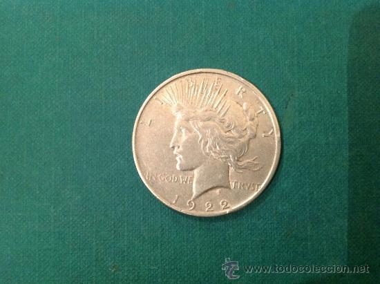 MONEDA DE 1 DOLAR DE PLATA; ESTADOS UNIDOS DE AMÉRICA; 1922 (Numismática - Extranjeras - América)