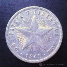 Monnaies anciennes d'Amérique: 20 CENTAVOS CUBA 1949 PLATA. Lote 38062409
