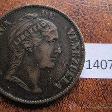 Monedas antiguas de América: VENEZUELA , 1 CENTIMO 1862. Lote 38115340