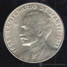 Monedas antiguas de América: MONEDA DE UN PESO. CENTENARIO DE MARTI. CUBA. 1953. Lote 38117961