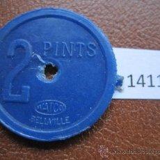 Monedas antiguas de América: FICHA SUDAFRICA, 2 PINTAS DE LECHE, DEVONSHIRE, TOKEN, JETON. Lote 38168013