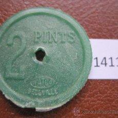 Monedas antiguas de América: FICHA SUDAFRICA, 2 PINTAS DE LECHE, DEVONSHIRE, TOKEN, JETON. Lote 38168020