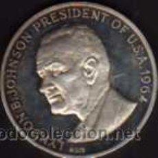 Monedas antiguas de América: MEDALLA DEDICADA AL PRESIDENTE DE ESTADOS UNIDOS LYNDON B. JOHNSON EN 1964. Lote 38228430