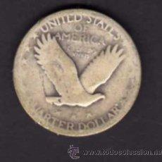 Monedas antiguas de América: CUARTO DE DOLAR DE PLATA CON LA LIBERTAD DE PIE - U.S.A.. Lote 38236722