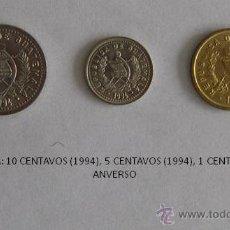 Monedas antiguas de América: MONEDAS DE GUATEMALA DE 1994: 10 CENTAVOS, 5 CENTAVOS Y 1 CENTAVO. Lote 39317313