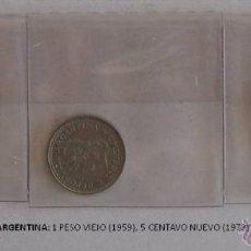 Monedas antiguas de América: MONEDAS DE ARGENTINA: 1 PESO VIEJO (1959), 1 CENTAVOS (1972) Y 1 PESO (1976). Lote 39347605