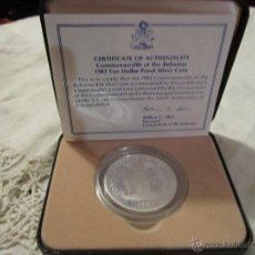 Monedas antiguas de América: MONEDA DE PLATA DE 10 DÓLARES. COMMONWEALTH OF THE BAHAMAS 1983. 3,5 CMS. DIÁMETRO. CON CERTIFICADO.. Lote 39740744