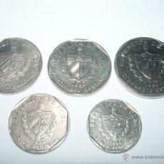Monedas antiguas de América: LOTE DE CINCO MONEDAS REPUBLICA DE CUBA.. Lote 39750100