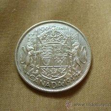 Monedas antiguas de América: CANADA - 50 CENTAVOS 1945 PLATA. Lote 39778166