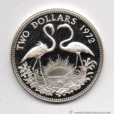 Monedas antiguas de América: ISLAS BAHAMAS. 2 DÓLARES. AÑO 1972. PLATA. PRUEBA NUMISMÁTICA.. Lote 39845690