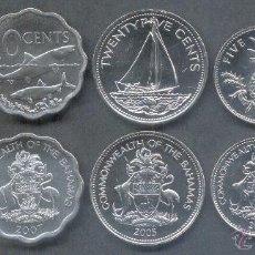Monedas antiguas de América: SERIE BAHAMAS 5 MONEDAS 1,5,10,15 Y 25 CENTS. Lote 137273489