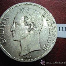 Monedas antiguas de América: VENEZUELA , 5 BOLIVARES DE PLATA 1924. Lote 40020850
