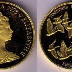 Monedas antiguas de América: CANADA 1978 - 100 DOLARS DE ORO (GOLD) PROOF - PATOS - GEESE - BERNACHES - KM # 122. Lote 40597583