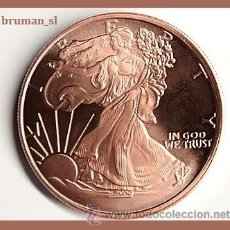 Monedas antiguas de América: PRECIOSA MONEDA DE COBRE PURO ESTADOS UNIDOS 2011 U.S.A ESCUDO Y LIBERTY. Lote 49974726