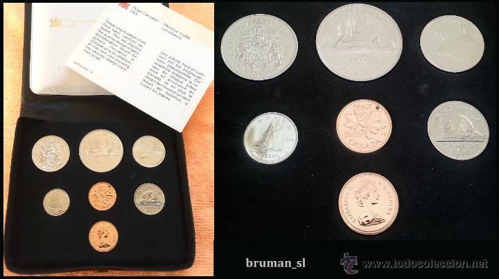 CANADA AÑO 1980 COIN SET DE 7 MONEDAS PROOF COMPLETO EN ESTUCHE ORIGINAL (Numismática - Extranjeras - América)