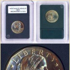 Monedas antiguas de América: SUSAN B ANTHONY 1 DOLLAR USA 1979 P DORADA SIN CIRCULAR CERTIFICADA EN SU CAPSULA. Lote 87465034