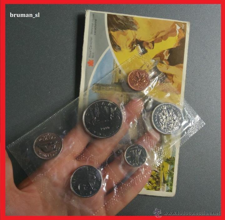 SET COMPLETO DE LA ROYAL CANDIAN MINT 6 VALORES AÑO 1980 (Numismática - Extranjeras - América)