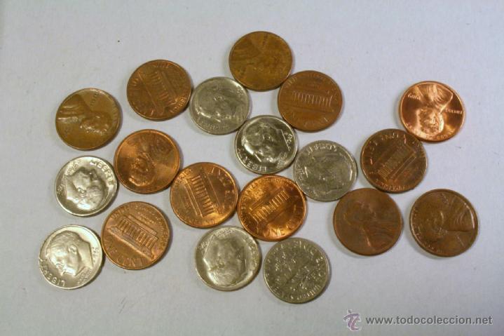 LOTE DE 19 MONEDAS US DOLLAR. VER DETALLE. (Numismática - Extranjeras - América)