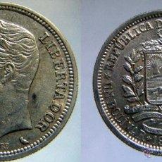 Monedas antiguas de América: VENEZUELA 1 BOLIVAR 1960 PLATA 5 GR.. Lote 41370024