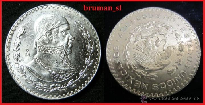 PESO DE PLATA ESTADOS UNIDOS MEXICANOS 1967 MBC (Numismática - Extranjeras - América)