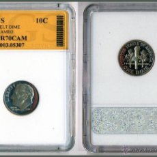Monedas antiguas de América: 10C ROOSVELT DIME USA 2003 S CALIDAD PROOF EN CAPSULA CERTIFICADA. Lote 41408315