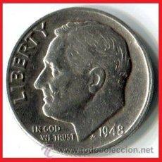 Monedas antiguas de América: ONE DIME DE PLATA USA 1948 MUY ESCASA MUY DIFICIL DE ENCONTRAR OCASION. Lote 41409186