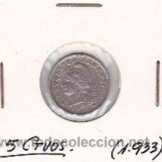Monedas antiguas de América: ARGENTINA 5 CTVOS. 1933. Lote 41530209