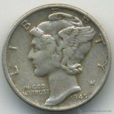 Monedas antiguas de América: ESTADOS UNIDOS. 1945 - 1 DIME. PLATA. Lote 41760843