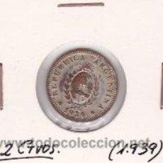 Monedas antiguas de América: ARGENTINA 2 CENTAVOS 1939. Lote 41846767