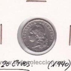 Monedas antiguas de América: ARGENTINA 20 CTVOS. 1940. Lote 41935514