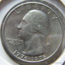 Monedas antiguas de América: ESTADOS UNIDOS QUARTER DOLLAR- 1/4 DOLAR- 1776-1976. Lote 185939442