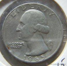 Monedas antiguas de América: ESTADOS UNIDOS QUARTER DOLLAR- 1/4 DOLAR- 1965. Lote 42575323